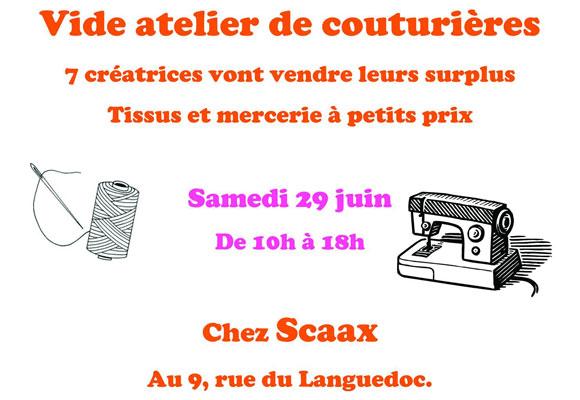 Puces de couturières à la boutique Scaax à Toulouse