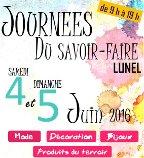 Marché du savoir faire 4 et 5 juin Lunel (34 )