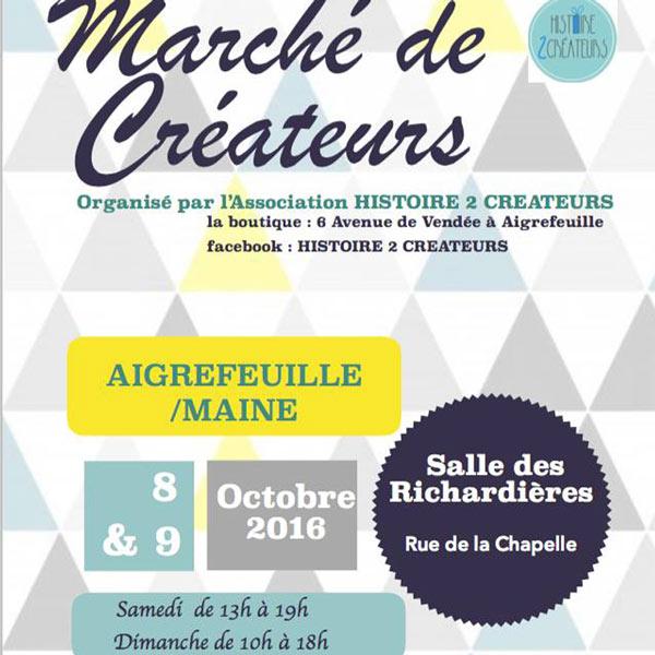Marché de créateurs – Aigrefeuille-sur-Maine (44)