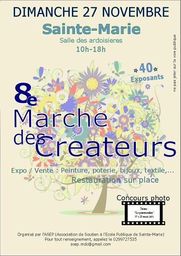 8ème «Marché des créateurs» de Sainte Marie