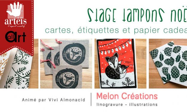 Stage Tampons NOËL – Gravure sur gomme