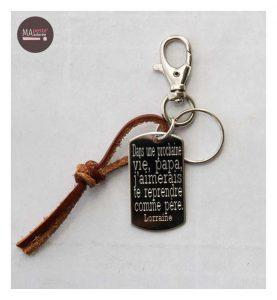 idée cadeau : porte clés personnalisé homme