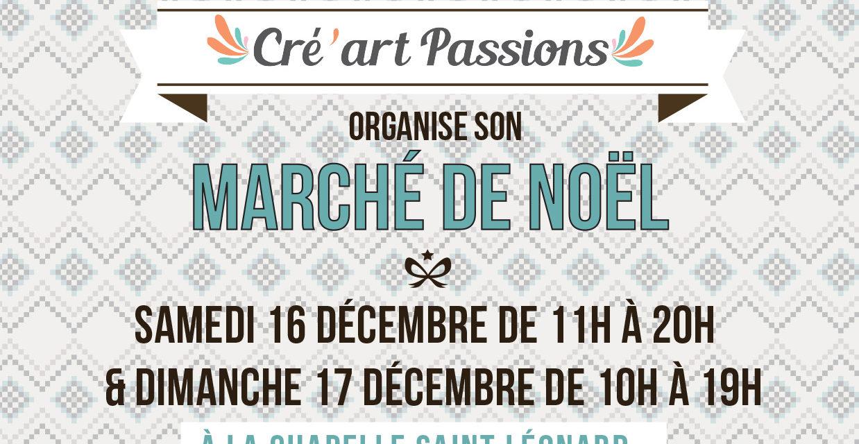 Marché de Noel organisé par Cré'art passions