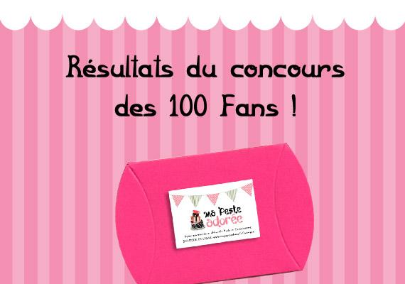 Résultat du concours des 100 Fans Facebook