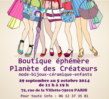 5ème boutique éphémère des créateurs à Paris