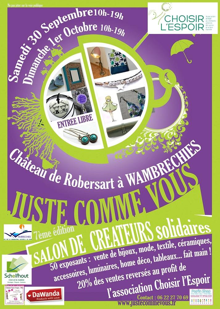 Salon de créateurs solidaires à Wambrechies