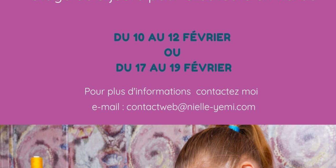Stage couture enfant vacances de Février 2020